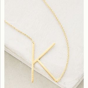 Gold Letter Block Necklace